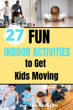 For some inspiration to get kids active, check out these 27 ideas for indoor physical activities for kids to get them motivated to move. #kidsfitness #kidsactivities Physical Activities For Kids, Fun Indoor Activities, Fitness Activities, Games For Kids, Running Club, Kids Running, Healthy Kids, Healthy Habits, Animal Movement