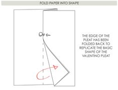 How To Work Out Patterns for Complex Details | The Cutting Class. Folds from Valentino SS08, Step 4.