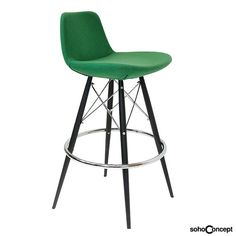 Features a chromed steel tubular footrests fixed inside the four-leg frame, Soho Concept Pera MW Stool. #SohoConcept #BarStool #CounterStool #SohoConceptTeam Available at allmodernoutlet.com  http://www.allmodernoutlet.com/soho-concept-pera-mw-stool/