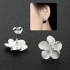 Sterling Silver Plumeria Earrings