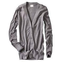 Short straight grey cardigan  #done