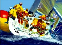 Sailboat Art by Tom Sachse
