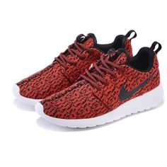 Custom Nike Roshe Yeezy Boost 350 Run Sneakers Athletic Running Womens... ($102) ❤ liked on Polyvore featuring shoes, athletic shoes, nikes, grey, sneakers & athletic shoes, tie sneakers, women's shoes, grey shoes, dark red shoes and tie shoes
