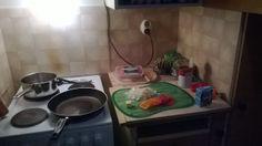 pienessä keittiössä