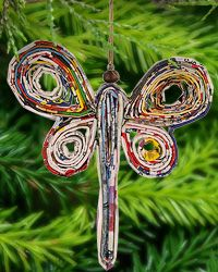 Recycled Magazine Dragonfly Ornament at The Animal Rescue Site