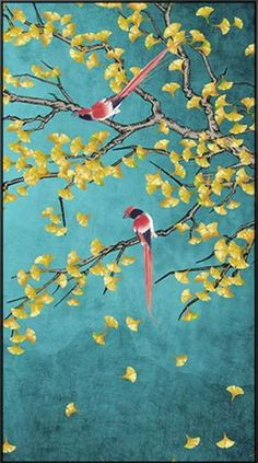 A beautiful decorative piece like this can easily give your home a pleasant and relaxing atmosphere while adding a modern-style aesthetic appeal. These Chinese style cool Magpie Bird and Ginkgo Tree wall art will make your guests smile. All of our eye-catching artworks are printed on cotton canvas with fade-resistant, waterproof inks so that you can enjoy them for many years to come. Tree Wall Art, Canvas Wall Art, Asian Wall Art, Step By Step Painting, Magpie, Color Show, Round Diamonds, Decorating Your Home, Cotton Canvas