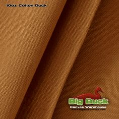 Nutmeg - Dyed 10 Ounce Cotton Duck (Canvas) Fabric By The Yard At Factory Direct - Wholesale Pricing!