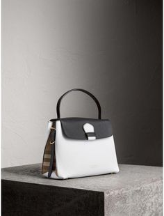 f410698a8aac Shop for Medium Two-tone Leather and House Check Tote by Burberry at  ShopStyle.