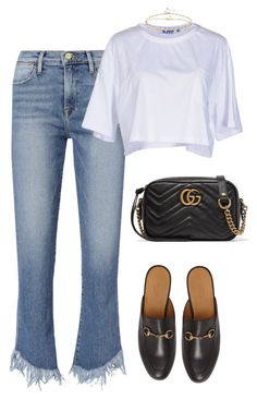 """Untitled #226"" by amaraelizabeth ❤ liked on Polyvore featuring Frame, SJYP, Gucci and ASOS"