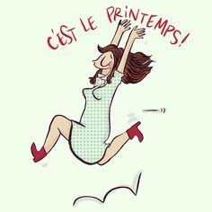«C'est le printemps sur le blog (ou presque) !!! #illustration #notedeblog #crayondhumeur >> www.crayondhumeur.com»