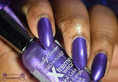 Deep Purple Sally Hansen Nails, Deep Purple, Swatch, How To Make, How To Wear, Nail Polish, Nail Art, Cosmetics, Check