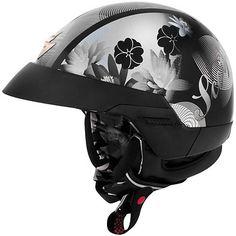 Scorpion EXO-100 'Lilly' Black Half Helmet - LeatherUp.com