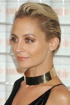 Who: Nicole Richie What: Monochrome Metallic How-To: Richie was the golden girl at La Mer's 50th Anniversary celebration. Not only did she make styling a pixie in the awkward growing-out stage look effortless, she nailed it on the makeup front, too, complementing her bronze, olive-toned skin with copper metallic lids and sheer caramel lipstick. The shimmery finish keeps the monochrome palette from feeling one-dimensional. Editor's Pick: Too Faced Exotic Color Eyeshadow in Copper Sun, $16…