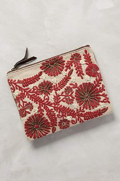 Mayenne Embroidered Pouch - anthropologie.com