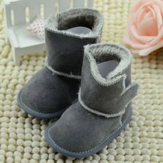 Newborn Baby Girl Winter Warm Boots Toddler Infant Soft Sole Shoes Booties 0-12M #Affiliate