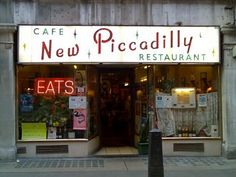 In memory of... The New Piccadilly, 50's London caff