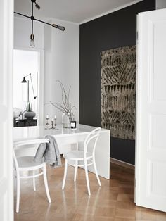 Style and Create — Elegance and harmony in the home of Finnish. Room, House, Elegant, Home, Dining Area, Interior Design Styles, Basic Shower Curtain, Interior Design, Wall Rug