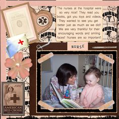 scrapbook pages for nurses - Google Search
