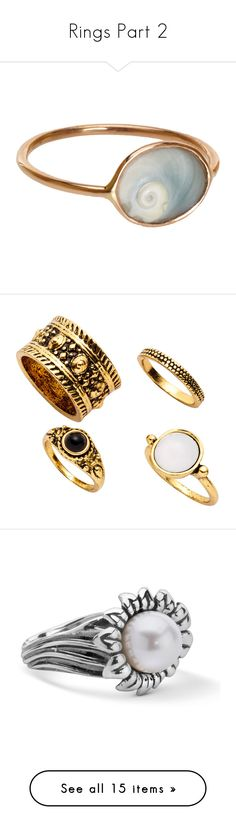 """""""Rings Part 2"""" by drskullz on Polyvore featuring jewelry, rings, accessories, fillers, handcrafted rings, seashell ring, hand crafted rings, thin rings, handcrafted jewellery and bagues"""