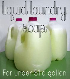 This homemade and natural laundry detergent is incredibly easy to make and requires just three ingredients and best of all you can get an estimated 570 lo