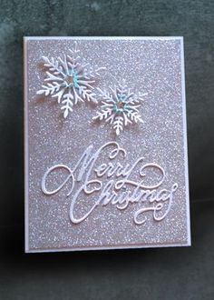 Glitter and Snowflakes - Scrapbook.com