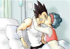 Fan Art of Vegeta & Bulma for fans of Dragon Ball Love.