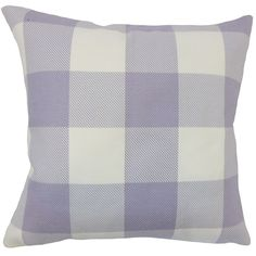 Baker Plaid Down Filled Throw Pillow in Purple (Rectangle - 12 x 18)
