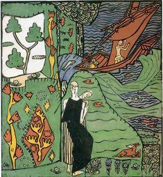 The Sailboat by Oskar Kokoschka (1886-1980, Austria)