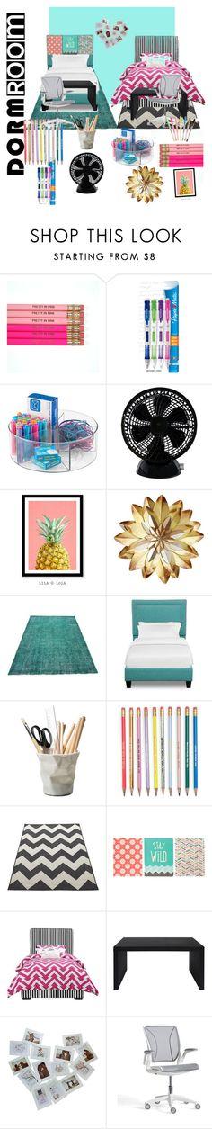 """Dorm room🙂"" by da-queen078 ❤ liked on Polyvore featuring interior, interiors, interior design, home, home decor, interior decorating, Paper Mate, Keystone, ESSEY and Modloft"