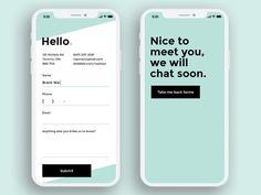 DailyUI - 028 - Contact ui design contact mobile app daily ui Daily UI 28 is of a contact form on a mobile device. Dashboard Design, Ui Ux Design, Application Ui Design, Visual Design, Design Responsive, Design Food, User Interface Design, Flat Design, Best App Design