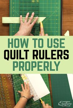 Selecting the right quilting ruler depending on what you are making can help save you time and money. Once you figure out what type of quilting ruler you are most comfortable using you will find that you can do most of your cuts with just that one ruler. Quilting 101, Quilting Tools, Quilting Rulers, Quilt Binding, Quilting For Beginners, Quilting Tutorials, Hand Quilting, Machine Quilting, Quilting Projects