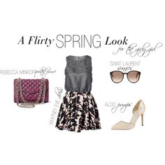 """Flirty Spring Look"" by shopeluxe on Polyvore"