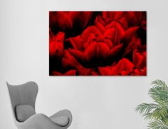 Discover «Red tulips», Exclusive Edition Canvas Print by Nannie van der Wal - From 45€ - Curioos