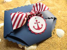 A very cute set of 10 nautical handcrafted baby Shower Invitation or New Baby Announcement Cards featuring a lot of fun details - premium red and white stripe ribbon, a crystal embellished red anchor Sailor Baby Showers, Anchor Baby Showers, Baby Shower Parties, Baby Shower Themes, Baby Boy Shower, Shower Ideas, Shower Tips, Party Fiesta, Festa Party