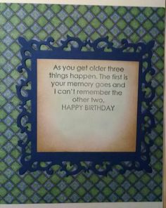 Linda's birthday card...inside