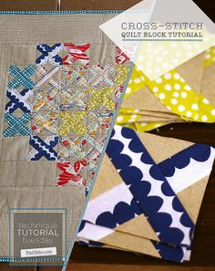Cross-Stitch Block Tutorial by PileOFabric, via Flickr