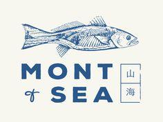 Mont + Sea Japanese/French Restaurant Branding by Sam Horn