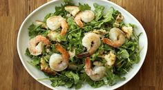 Warm Shrimp Salad by tastingtable as adapted from GErard Craft, Pastaria #Salad #Shrimp