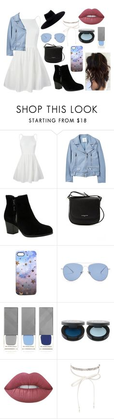 """Untitled #87"" by foreverunicornstar on Polyvore featuring MANGO, Skechers, Lancaster, Nikki Strange, Kaleos, Burberry, FACE Stockholm, Lime Crime, nOir and Maison Michel"