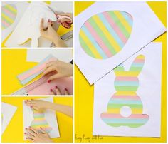 Adorable Printable Easter Silhouette Craft