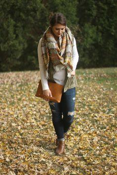 Olive   Plaid Fall Layering