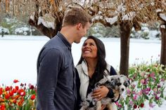 He gave her a puppy and a proposal!