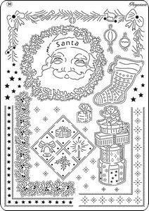 PERGAMANO MULTI GRID NO 30 VICTORIAN XMAS    Multi Grid no 30 Victorian Christmas goes perfectly with the Pergamano Clear Stamps Santa Claus and gifts.