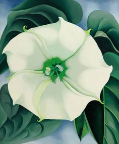 Georgia O'Keeffe's 1932 painting Jimson Weed/White Flower No. 1, which has sold for $44.4m. why are the male artists still more famous and making more money