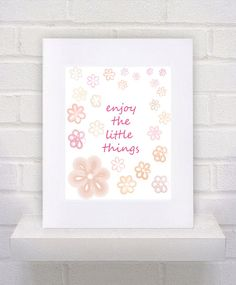ENJOY THE LITTLE THINGS by Suzanne Philip on Etsy
