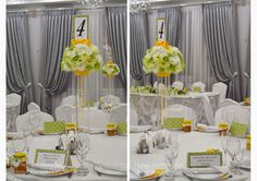Baiciurina Olga's Design Room: Желто-зеленая свадьба-Green& Yellow wedding decoration