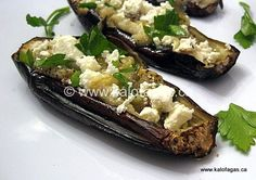 Roasted Eggplant With Feta - Kalofagas - Greek Food & Beyond