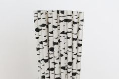 Black and White Birch Trunk Paper by CreativeJuiceCafe on Etsy