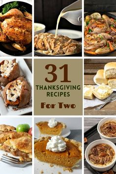 31 Easy Thanksgiving or Christmas Recipes for Two