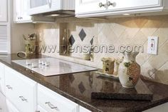 Charmant Tropic Brown Granite Countertop, Ogee Edge Granite Kitchen